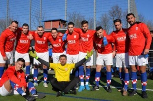Momčad Croatije Frankfurt pred utakmicu protiv Tempa / Foto:Fenix Magazin - Vice Larević