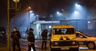 Policija osigurava prostor oko veleposlanstva SAD u Podgorici / Foto: FaH/Reuters