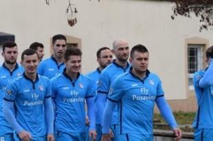 Momčad Posavine Frankfurt pri izlasku na teren protiv Blau-Gelba / Foto:Fenix Magazin - Danijel Pavić