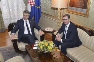 Andrej Plenković i Aleksandar Vučić / Foto Hina