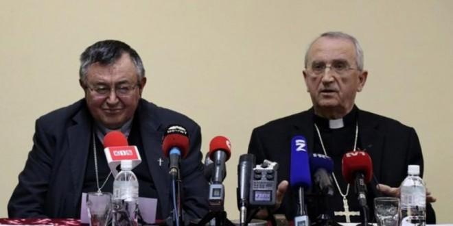 Kardinal Vinko Puljić i zadarski nadbiskup Želimir Puljić / Foto: Fena