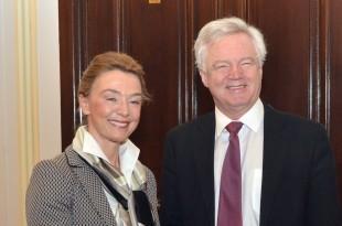 Potpredsjednica Vlade i ministrica vanjskih i europskih poslova Marija Pejčinović Burić  sa ministrom za izlazak iz Europske unije u Vladi Ujedinjene Kraljevine Velike Britanije i Sjeverne Irske Davidom Davisom / Ffoto HINA