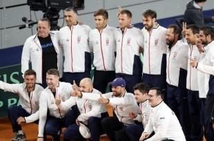 Hrvatska teniska reprezentacija nakon pobjede protiv Kazahstana/ Foto:Hina