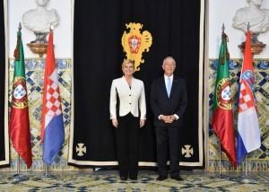 Hrvatska predsjednica zahvalila portugalskom predsjedniku