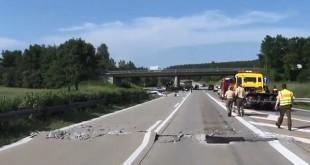 Oštećenje na autocesti/Foto: Screenshot/YoutubeIlustracija