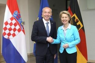 Damir Krstičević sastao se u Berlinu s njemačkom ministricom obrane Ursulom von der Leyen. Foto MORH