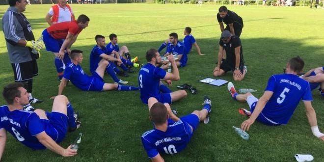 Mutapčić na zadnjoj utakmici s Zrinskim protiv FSV Waiblingen. Foto: B. Žepić