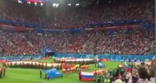 Rusija slavi pobjedu nad Egiptom. Foto. Screenshot