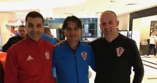 Tomislav Vidačković i Stipica Gavran s hrvatskim izbornikom Dalićem. Foto: Fenix-magazin