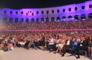 Publika na dodjeli nagrada 65. Filmskog festivala u Puli / Foto: Hina
