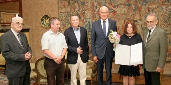 WG: Jadranki Gvozdanović uručena povelja dopisne članice HAZU. Foto: HAZU