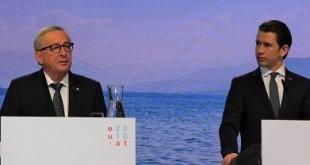 Juncker i Kurz na press konferenciji. Foto: Snježana Herek