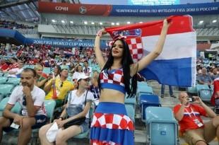 Hrvatska navijačina na SP u Rusiji / Foto: Hina