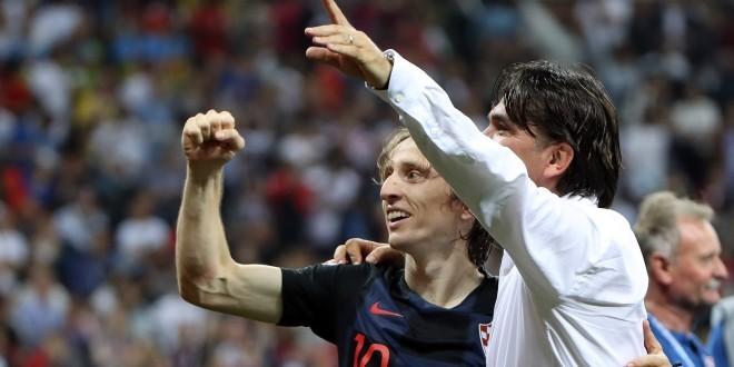 Kapetan Luka Modrić i izbornik Zlatko Dalić / Foto: Hina