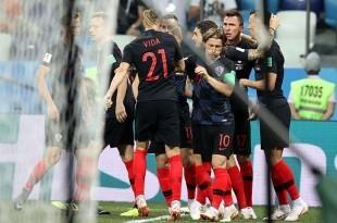 Utakmica osmine finala Svjetskog nogometnog prvenstva Rusija 2018 između reprezentacija Hrvatske i Danske. Foto: Hina