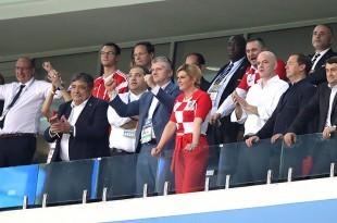 Predsjednik Međunarodne nogometne federacije (FIFA) Gianni Infantino u društvu Kolinde Grabar Kitarović/ Foto: Hina
