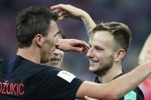 SP Rusija: Slavlje hrvatskih reprezentativaca nakon utakmice Hrv