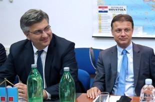 Predsjednik Vlade Andrej Plenković i predsjednik Sabora Gordan Jandroković/Foto: Hina