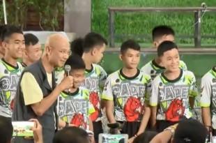 Tajlandski dječaci nakon puštanja iz bolnice se prvi put obratili medijima/Foto: Screenshot/Youtube