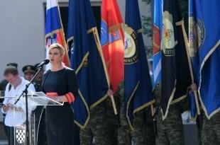 Hrvatska predsjednica na proslavi Oluje u Kninu / Foto: Twitter