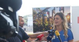 Sandre Perković  daje izjavu za novinare / Foto: Hina