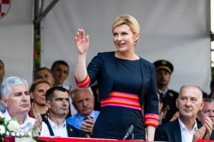 Hrvatska predsjednica Kolinda Grabar Kitarović u Sinju / Foto: Hina