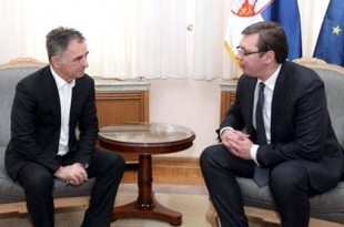 Arhivsa snimka Milorada Pupovca i Aleksandra Vučića / Foto: Twitter
