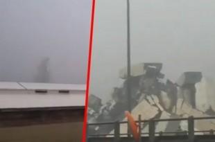 Urušeni viadukt nadomak Genove / Foto: Screenshot Instagram