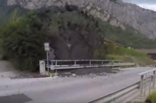 Stanovnike švicarskog sela iznenadila bujica kamenja i blata/Foto: Screenshot/Youtube