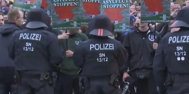 Prosvjedi u Chemitzu/Foto: Screenshot/DailyMail