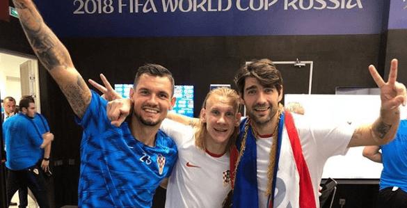 Dejan Lovren, Domagoj Vida i Vedran Ćorluka Foto: Instagram