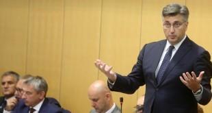 Premijer Plenković u Hrvatskom saboru / Foto HINA