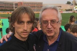 Luka Modrić i fra Marinko Vukman