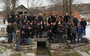 Božićna čestitka na izvoru Svekar vode / Foto: Fenix
