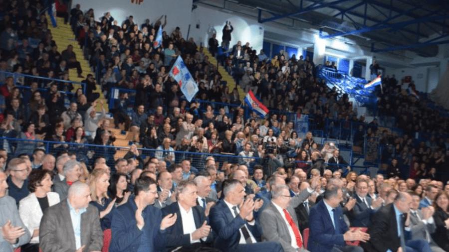 Predizborni skup HDZ-a u Gospiću / Foto:Slobodnalika.com