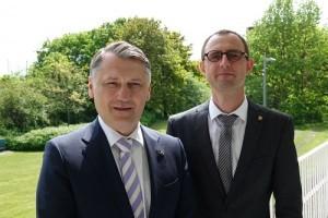 Generalni konzul Republike Hrvatske u Hamburgu Kristijan Tušek i državni tajnik Dirk Schrödter/Foto:  ©Staatskanzlei