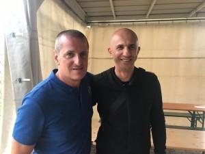 Trener Ante Udbinac i Petar Krpan / Foto: Fenix