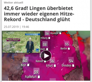 Rekordna temperatura