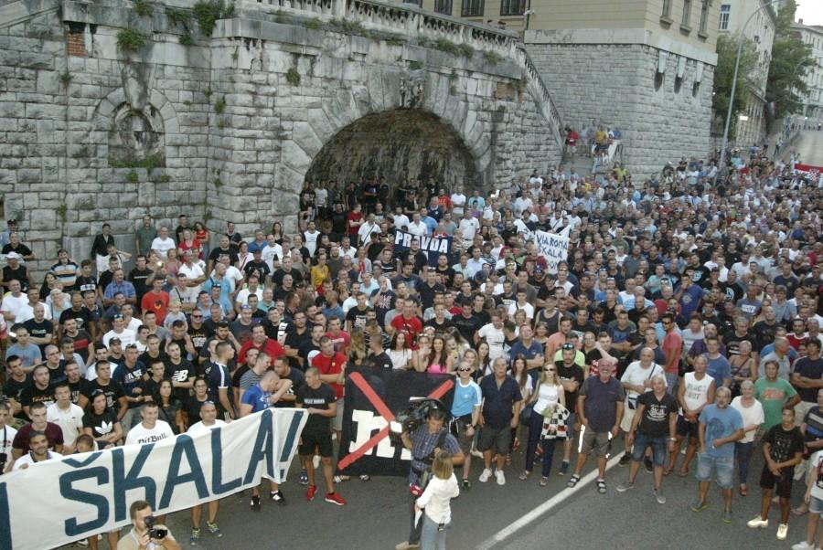 Prosvjed podrške u Rijeci / Foto: Hina