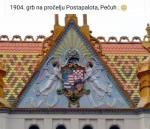 Hrvatski grb na zgradi u Pečuhu / Foto: Preskik