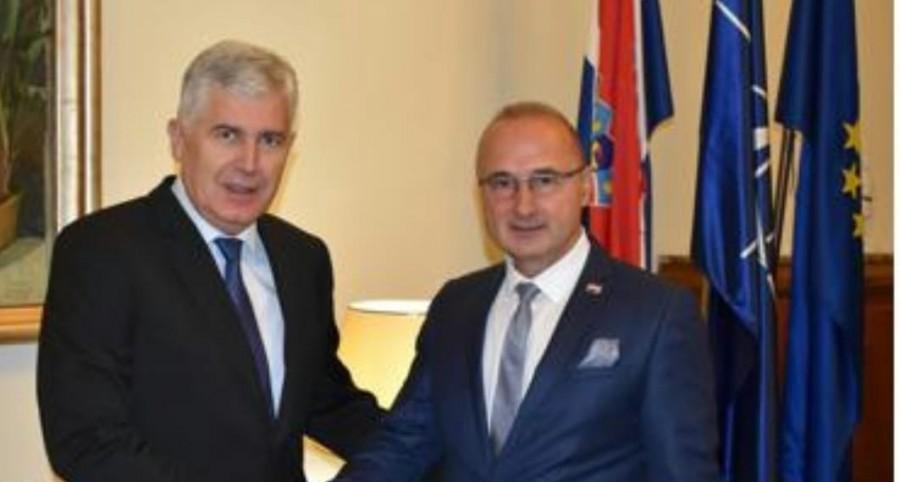 Ministar Grlić Radman i Dragan Čović razgovarali o uspostavi vlasti u BiH, bilateralnim odnosima, EU i NATO integracijama