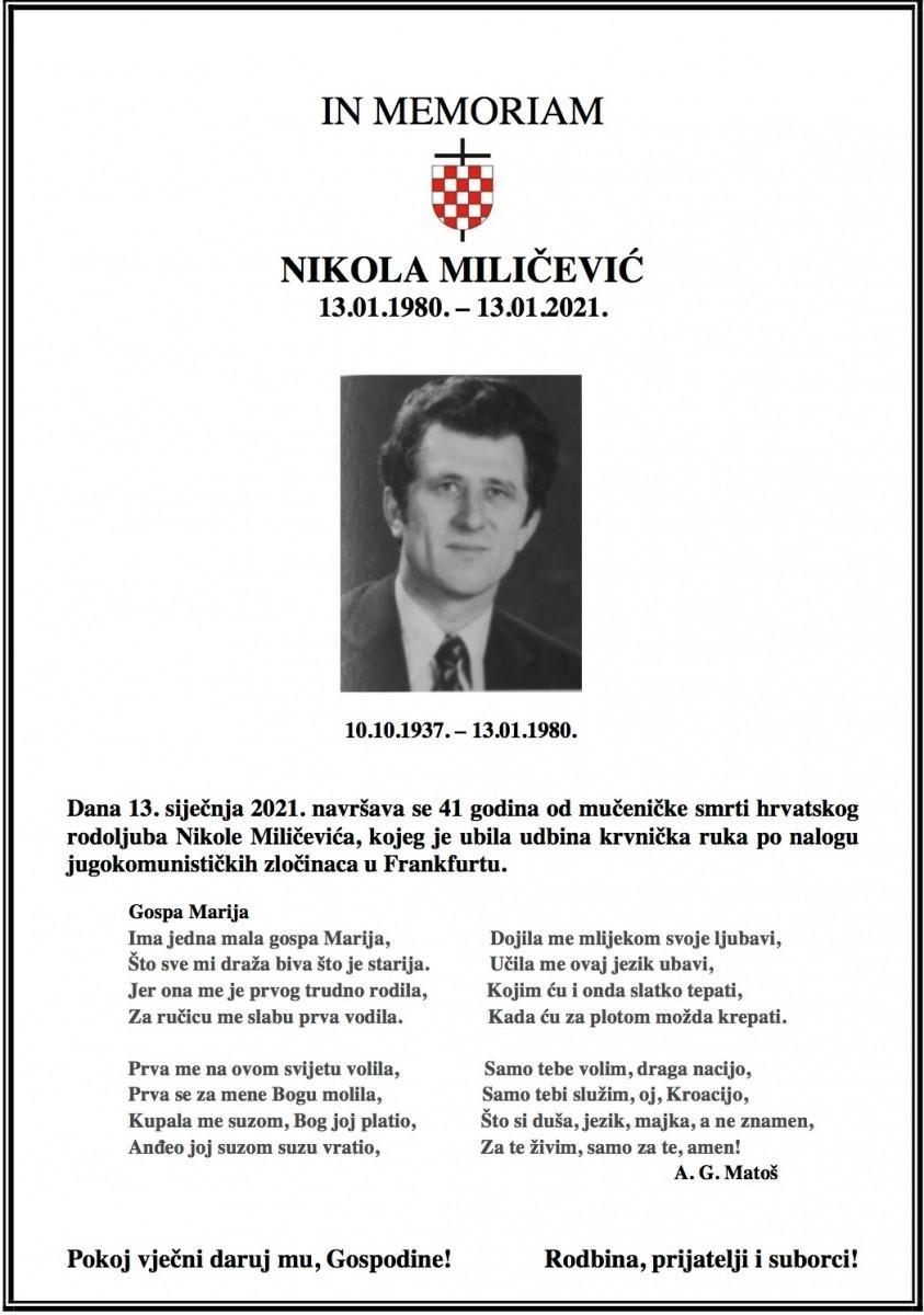 In memoriam _Nikola Milicevix
