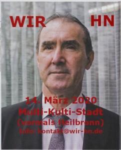 Plakat najave predavanja dr. Tomislava Sunića u Heilbronnu / Foto: Preslik WIR