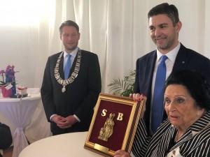 Gradonačelnik Bad Homburga Alexander Hetjes, gradonačelnik Dubrovnika Mato Franković i Olga Stoss