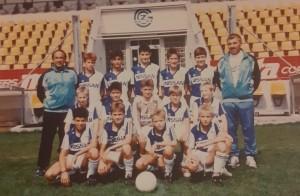Ivan Barišić (prvi s lijeva) koa trener juniora Grashopers Züricha / Foto: Fenix
