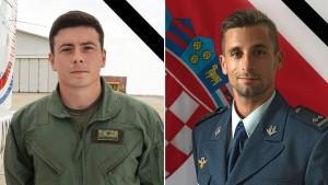 Poginuli piloti HRZ Luka Jagatić i Marko Novković/Foto: Fenix (MORH)