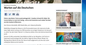 Clemens Verenkotte izvještava za njemačke medije o situaciji u Hrvatskoj