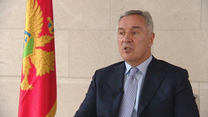 Milo Đukanović u razgovoru za HRT / Foto: Preslik HRT