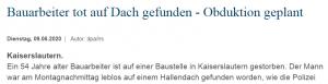 Njemački mediji pišu o mrtvom građevinaru pronađenom na gradilištu