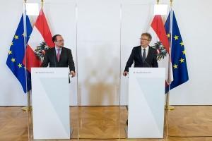 Ministar Schallenberg (lijevo) i ministar Anschober /Foto: Fenix (S.Herek/Michael Gruber